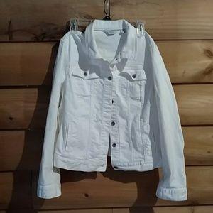 L.L. Bean White denim jacket